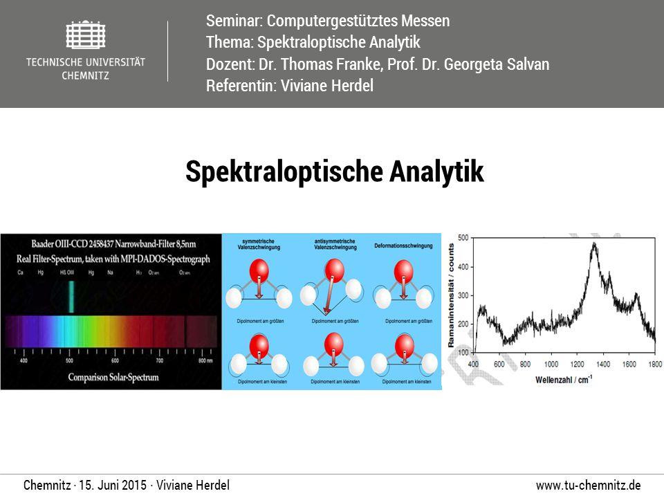Spektraloptische Analytik
