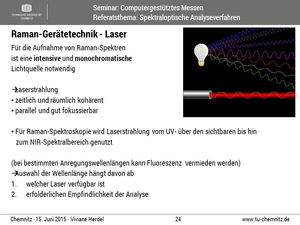 Raman-Gerätetechnik - Laser