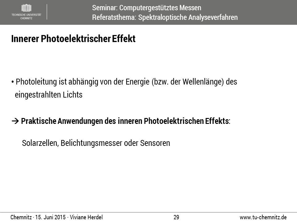 Innerer Photoelektrischer Effekt