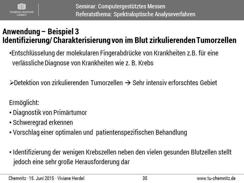 Anwendung – Beispiel 3 Identifizierung/ Charakterisierung von im Blut zirkulierenden Tumorzellen
