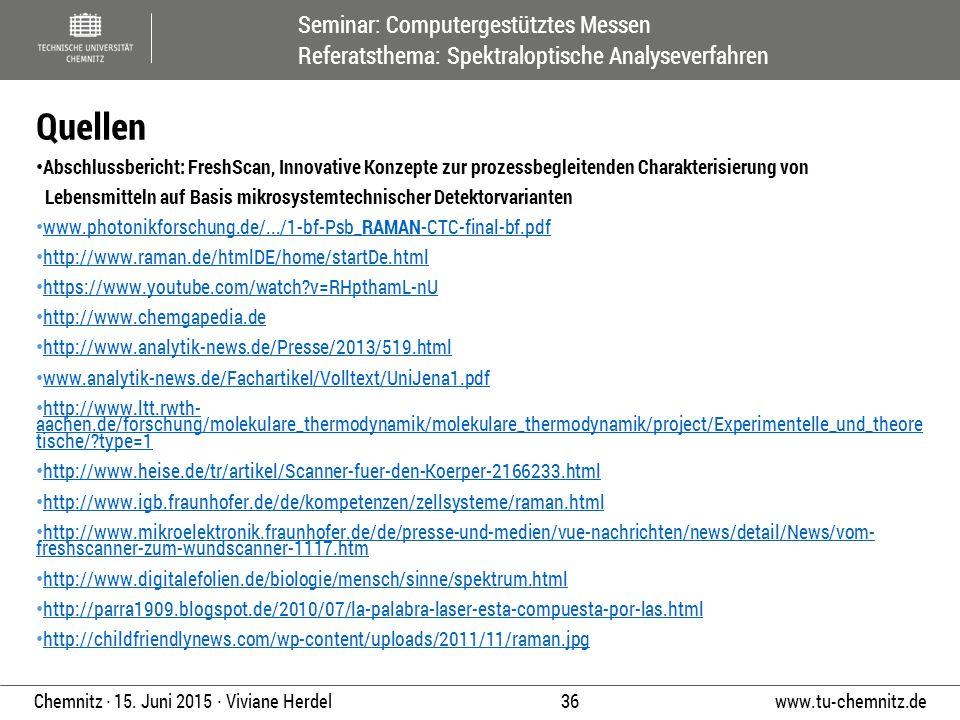 Quellen Abschlussbericht: FreshScan, Innovative Konzepte zur prozessbegleitenden Charakterisierung von.