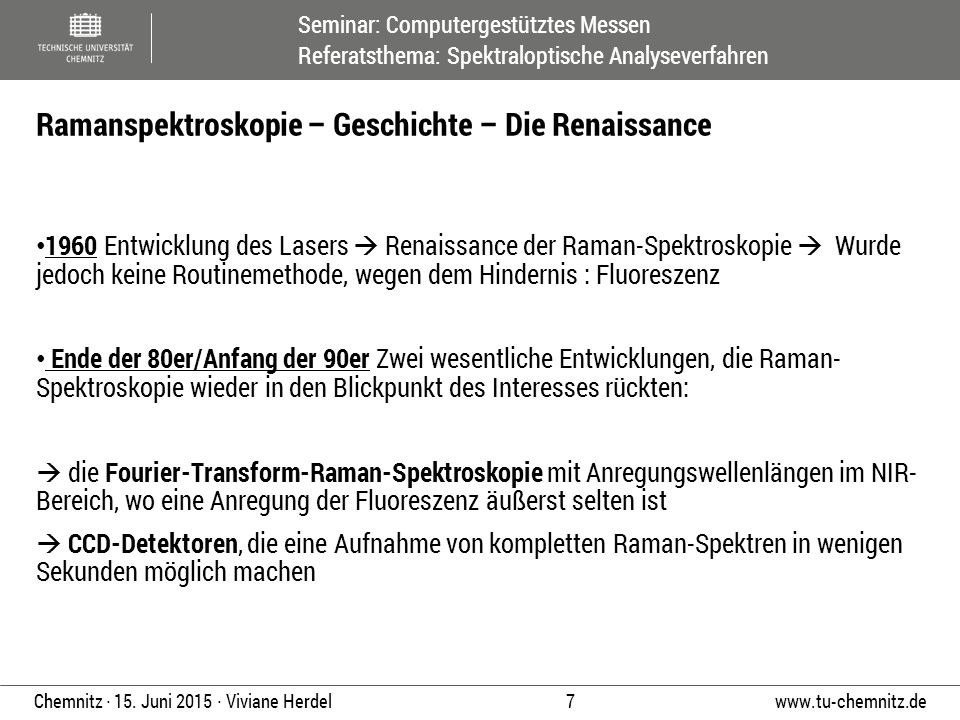 Ramanspektroskopie – Geschichte – Die Renaissance