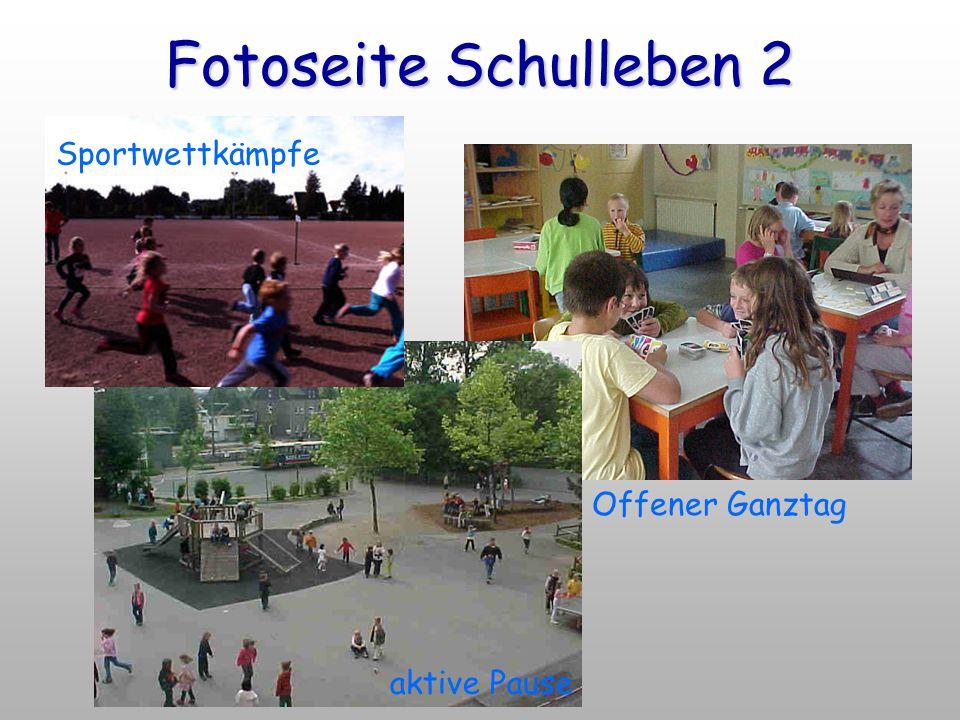Fotoseite Schulleben 2 Sportwettkämpfe Offener Ganztag aktive Pause