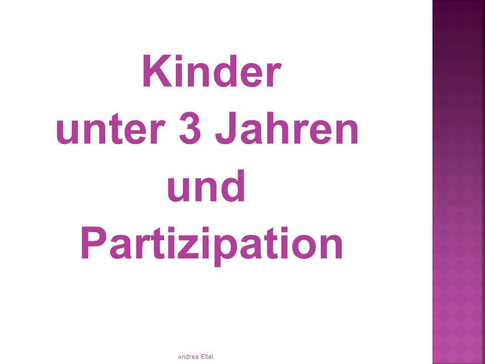 Kinder unter 3 Jahren und Partizipation