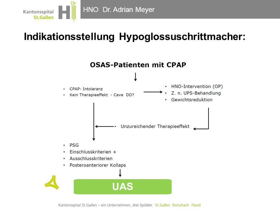 Indikationsstellung Hypoglossuschrittmacher: