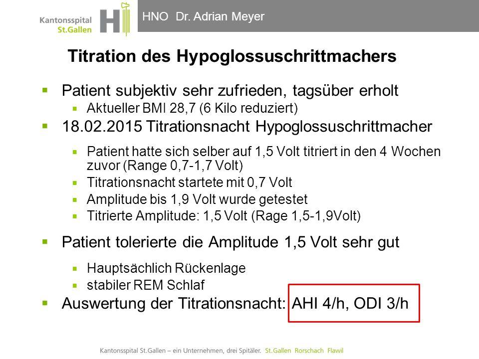 Titration des Hypoglossuschrittmachers