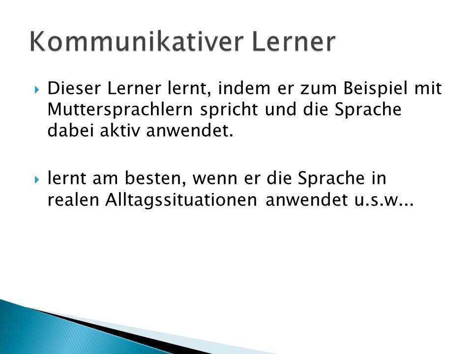 Kommunikativer Lerner