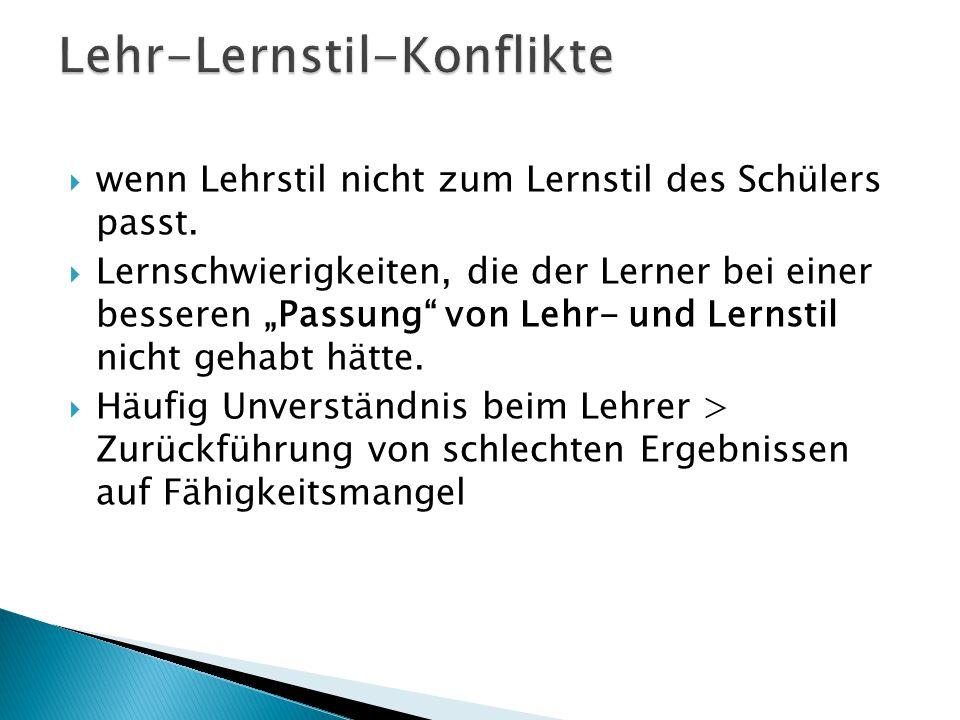 Lehr-Lernstil-Konflikte