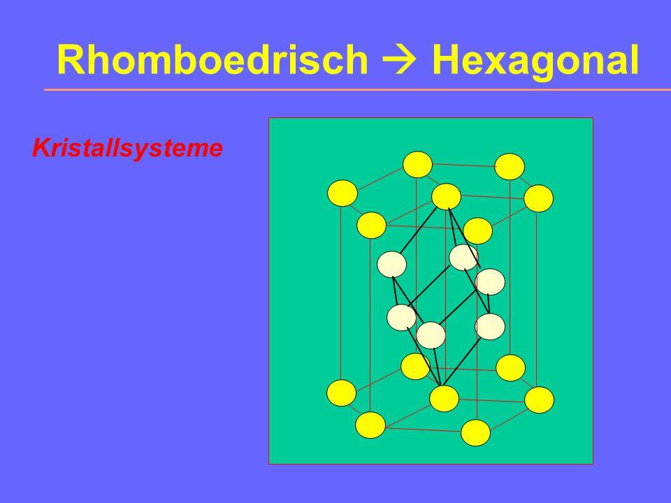 Rhomboedrisch  Hexagonal