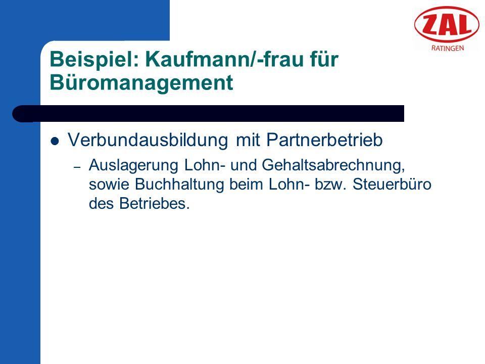 Beispiel: Kaufmann/-frau für Büromanagement