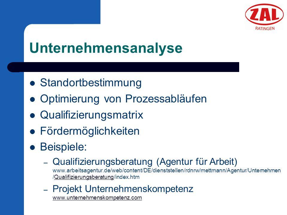 Unternehmensanalyse Standortbestimmung Optimierung von Prozessabläufen