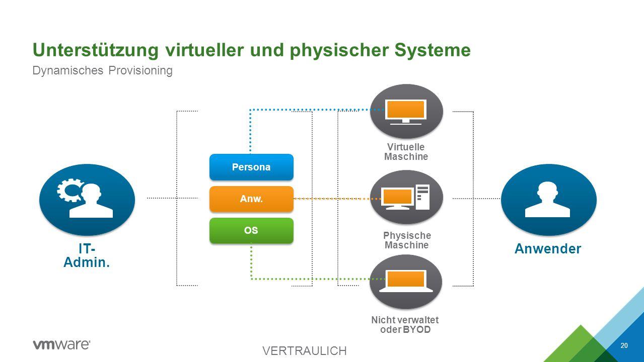 Unterstützung virtueller und physischer Systeme