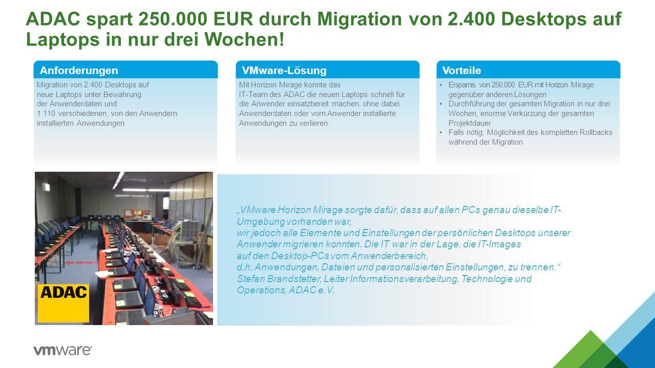 ADAC spart 250. 000 EUR durch Migration von 2
