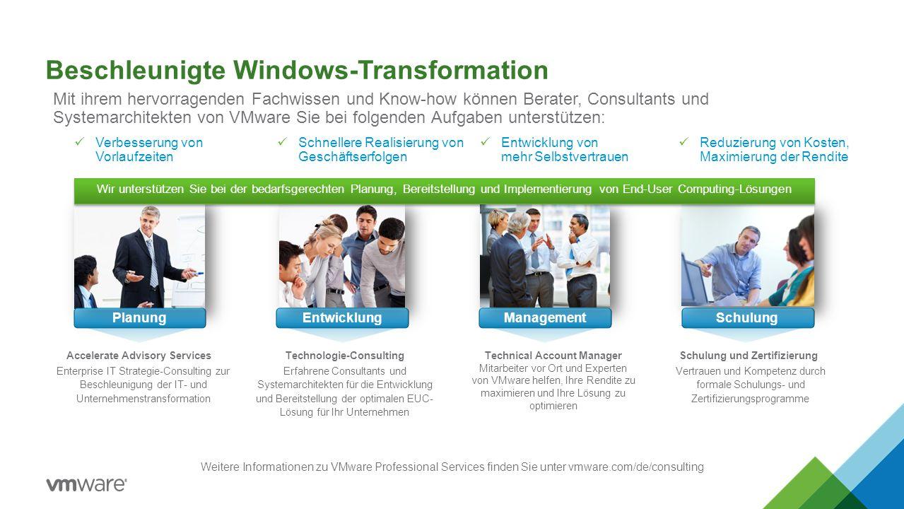 Beschleunigte Windows-Transformation