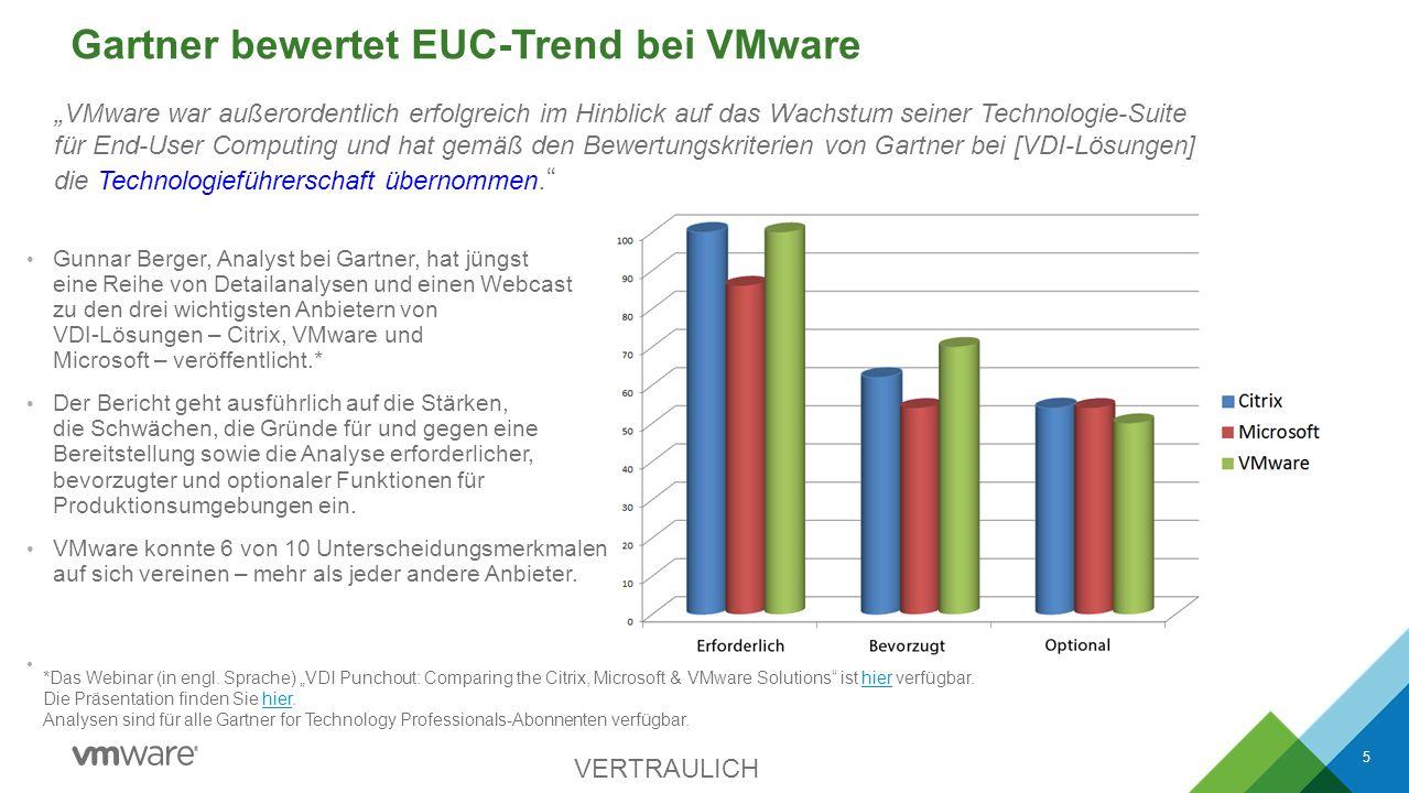 Gartner bewertet EUC-Trend bei VMware