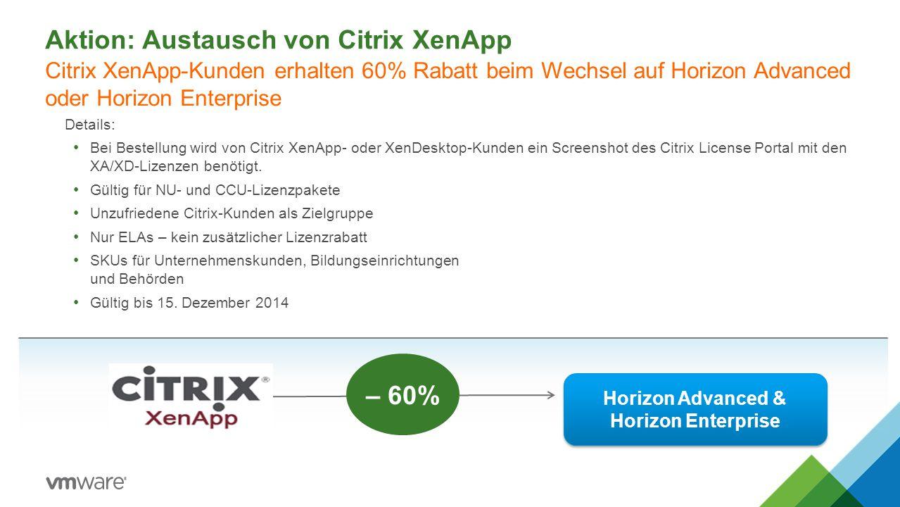 Aktion: Austausch von Citrix XenApp