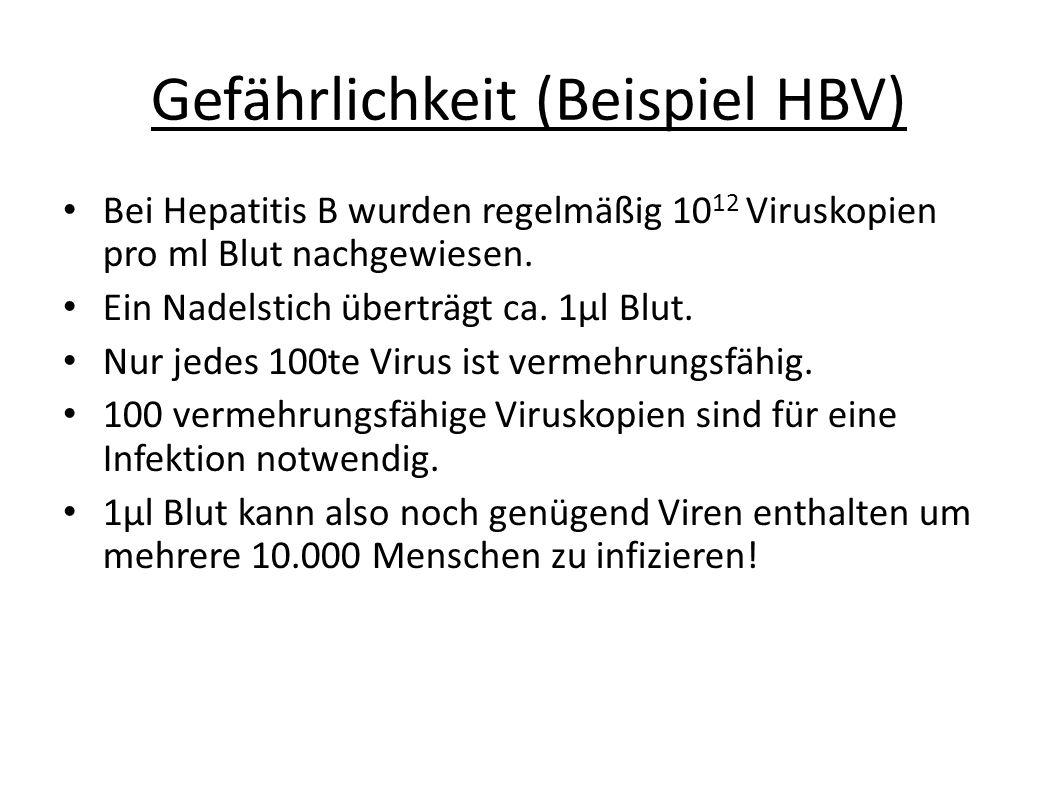 Gefährlichkeit (Beispiel HBV)