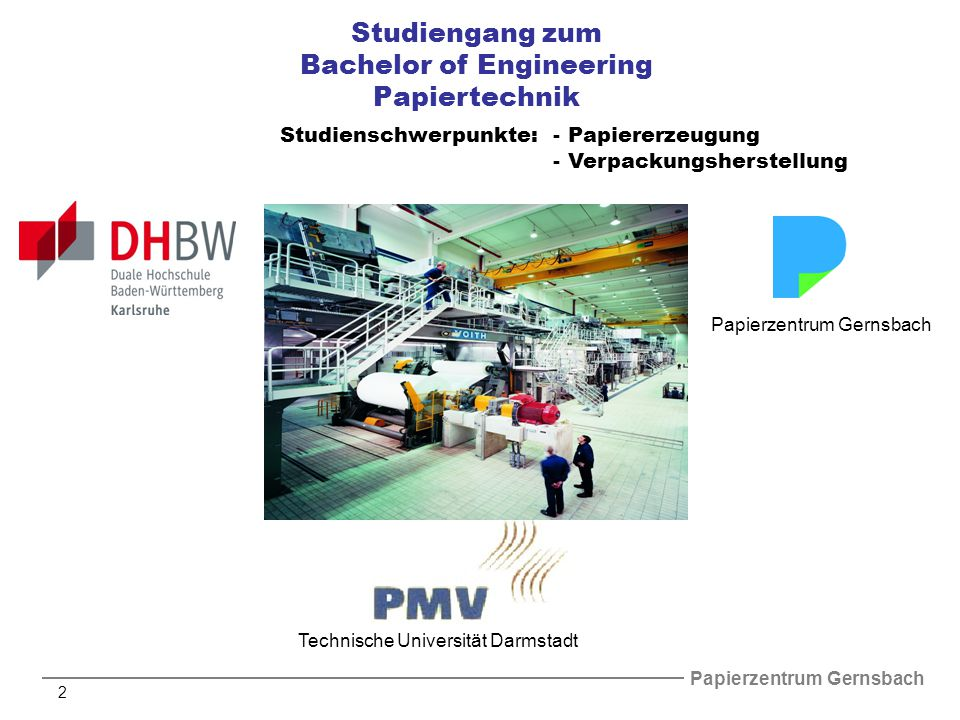 Bachelor of Engineering Papiertechnik