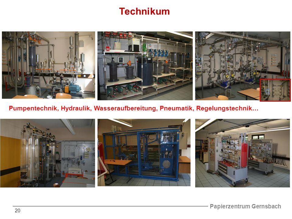 Technikum Pumpentechnik, Hydraulik, Wasseraufbereitung, Pneumatik, Regelungstechnik…