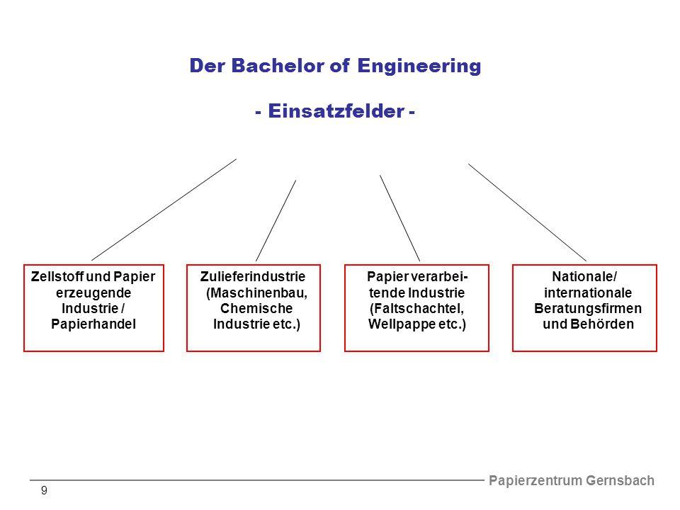 Der Bachelor of Engineering - Einsatzfelder -