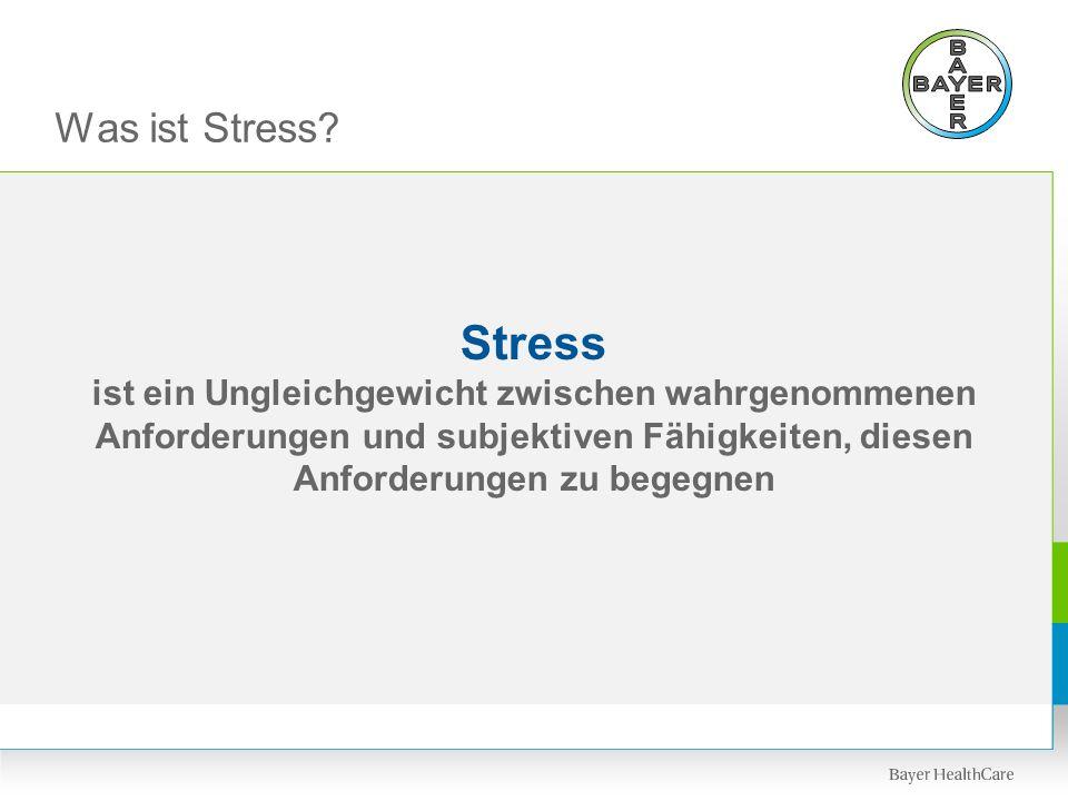 Was ist Stress. Stress.