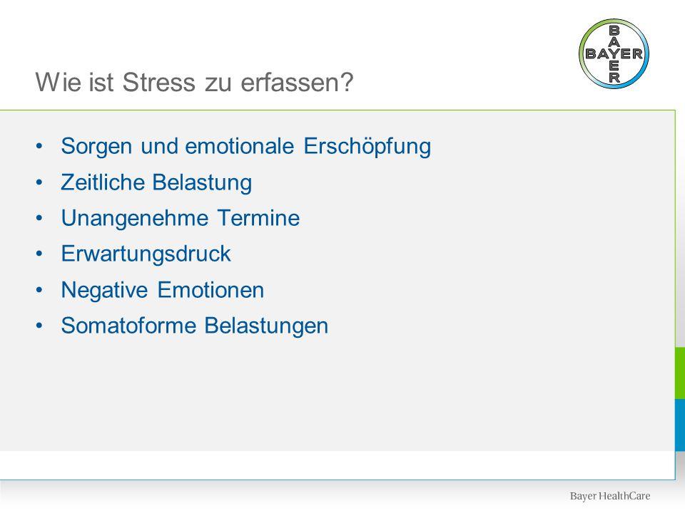 Wie ist Stress zu erfassen