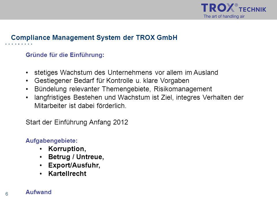 Compliance Management System der TROX GmbH