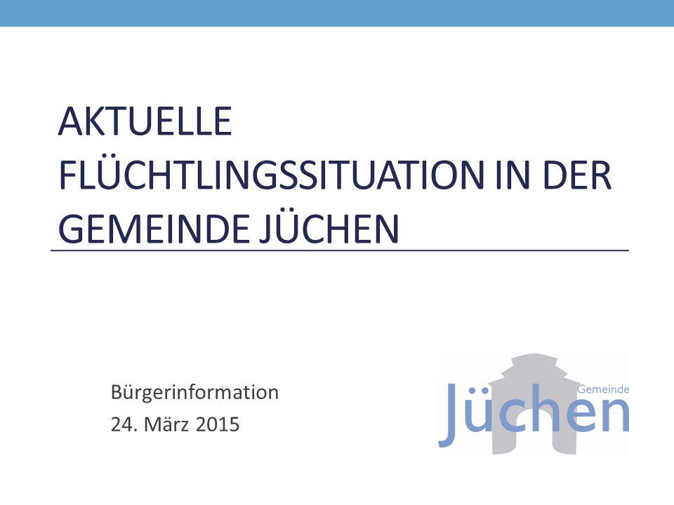 Aktuelle Flüchtlingssituation in der Gemeinde Jüchen