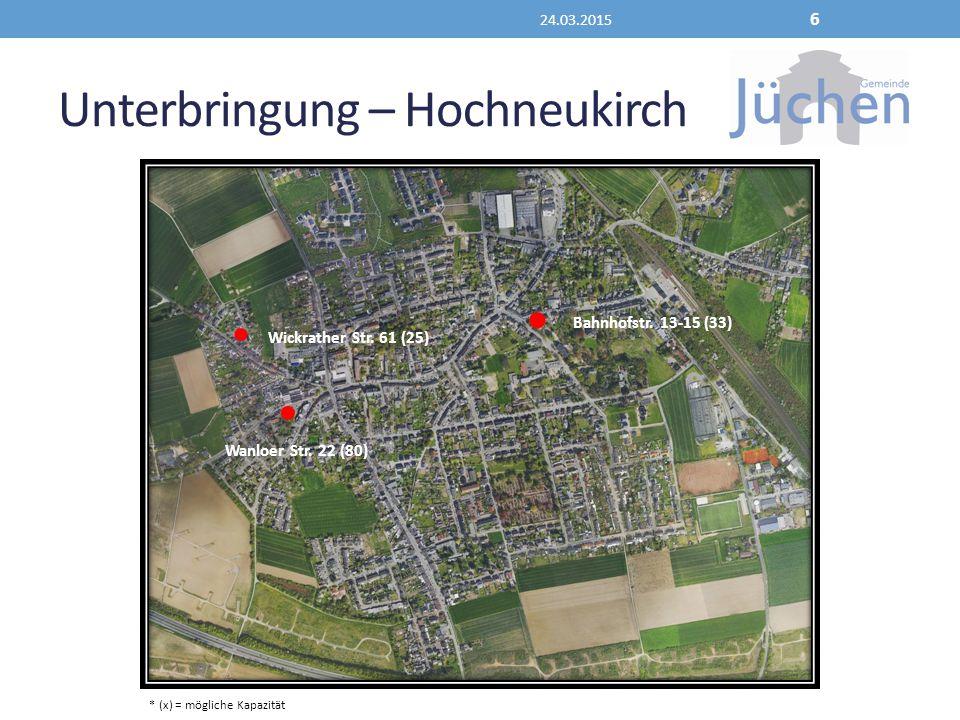 Unterbringung – Hochneukirch