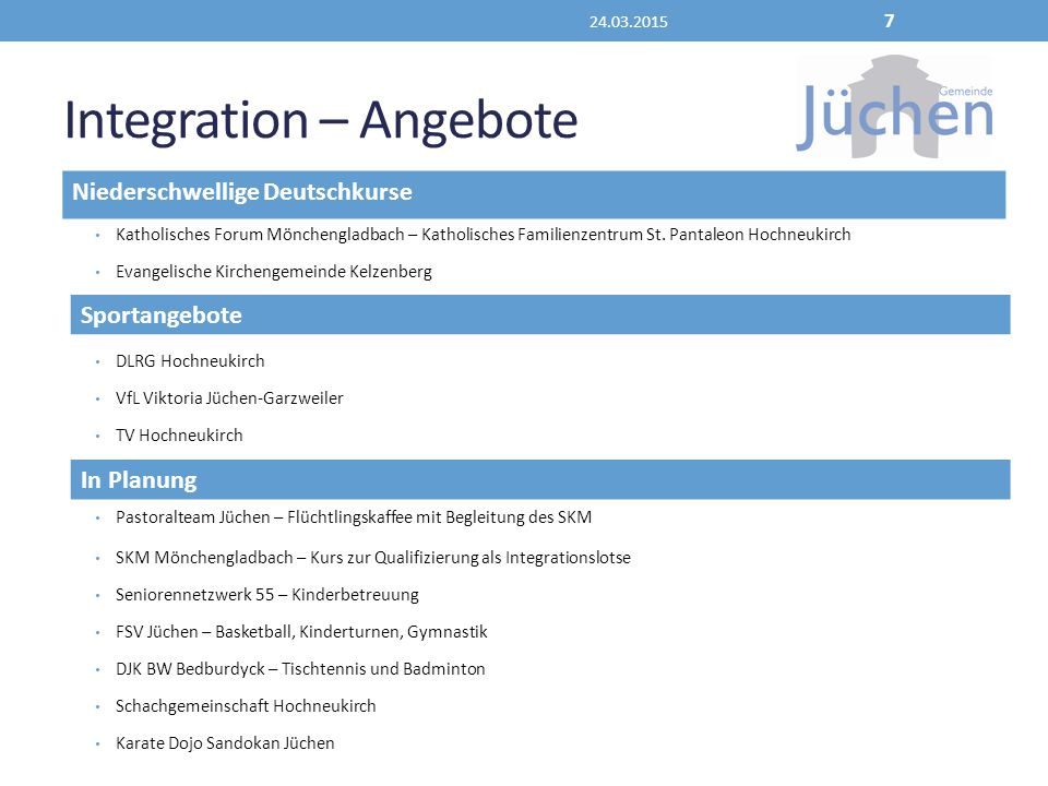 Integration – Angebote