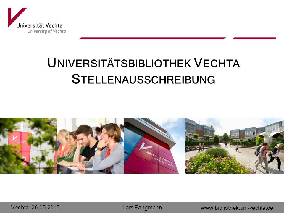 Universitätsbibliothek Vechta Stellenausschreibung