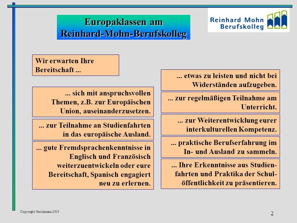 Europaklassen am Reinhard-Mohn-Berufskolleg