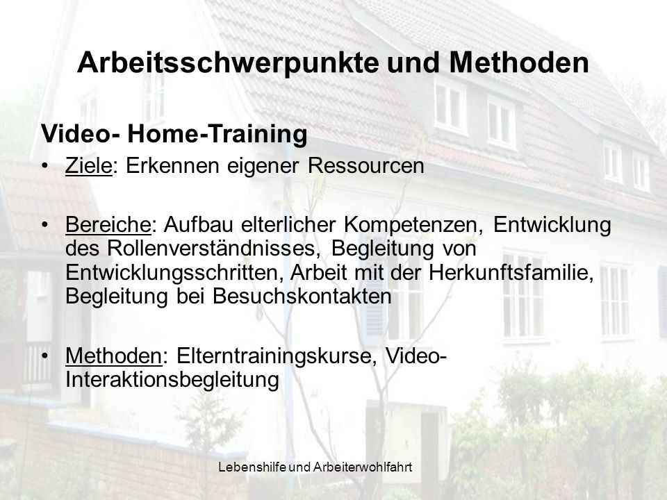 Arbeitsschwerpunkte und Methoden