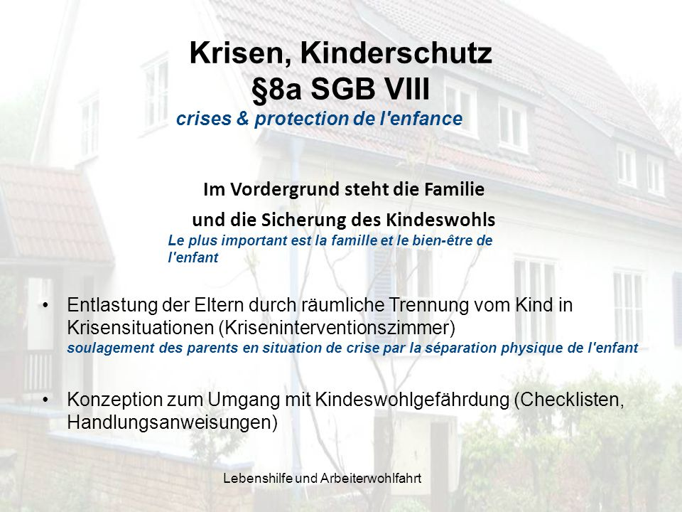 Krisen, Kinderschutz §8a SGB VIII