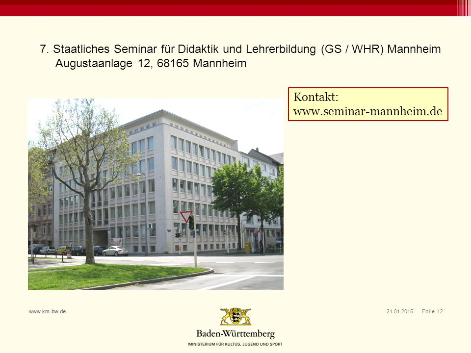 Augustaanlage 12, 68165 Mannheim