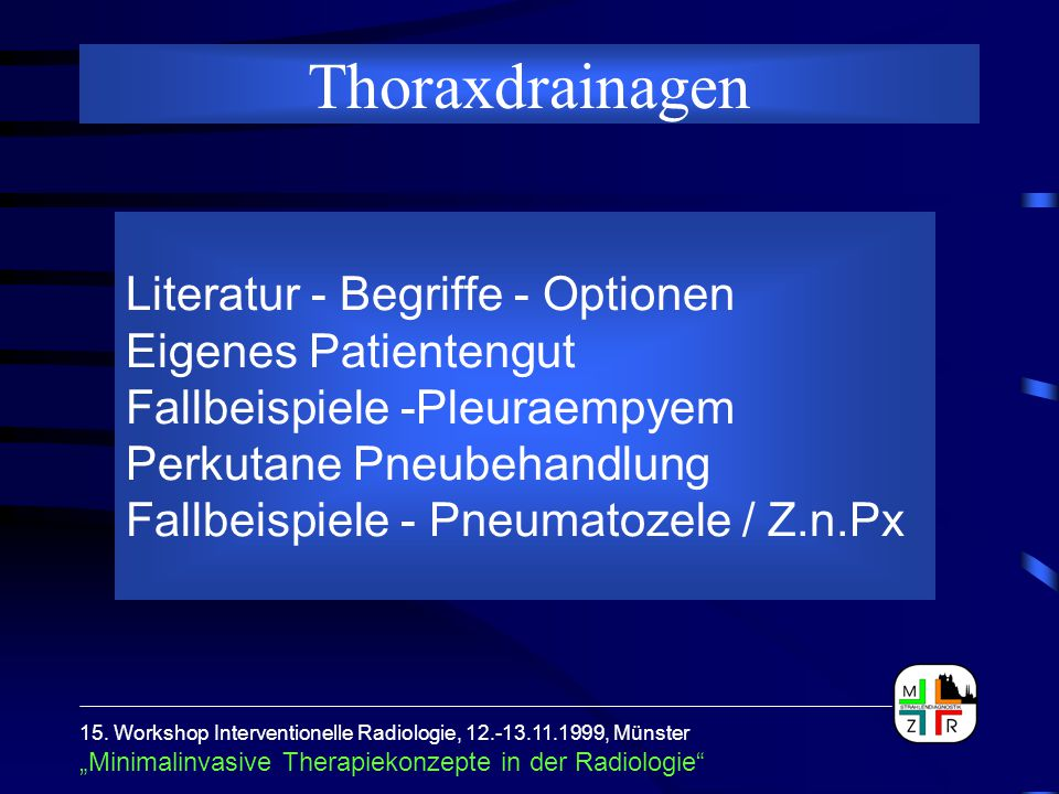 Thoraxdrainagen