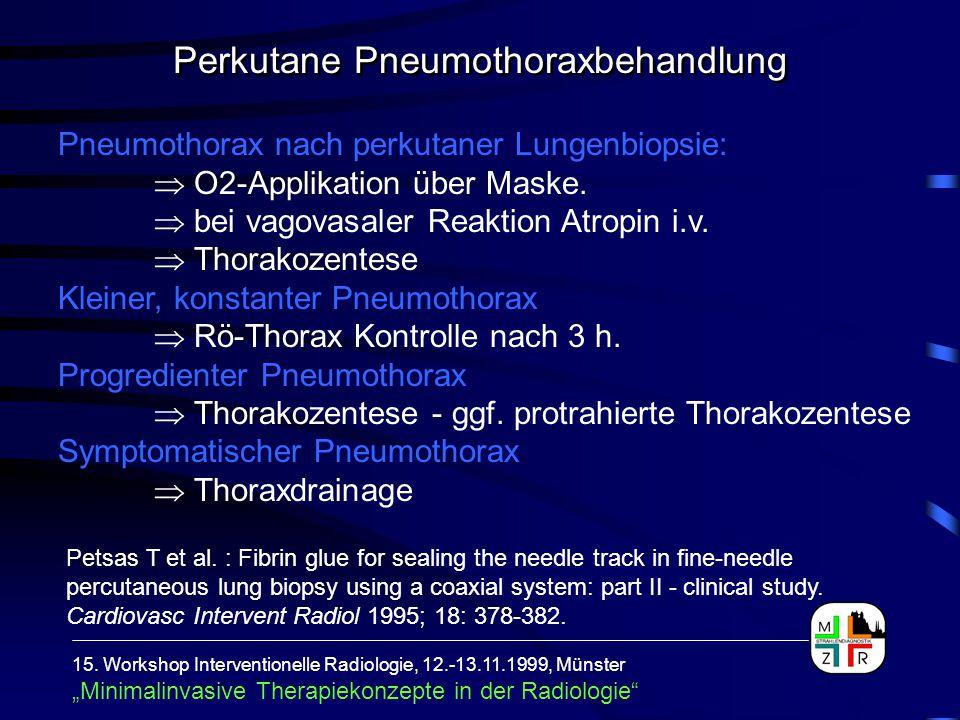 Perkutane Pneumothoraxbehandlung