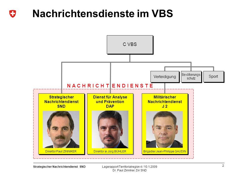 Nachrichtensdienste im VBS