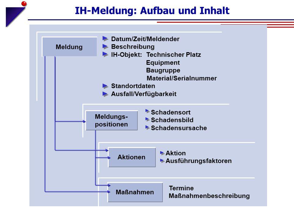 IH-Meldung: Aufbau und Inhalt