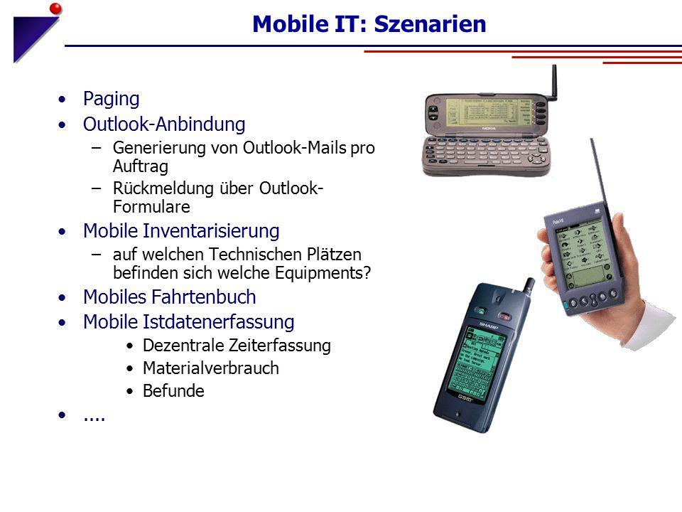 Mobile IT: Szenarien Paging Outlook-Anbindung Mobile Inventarisierung
