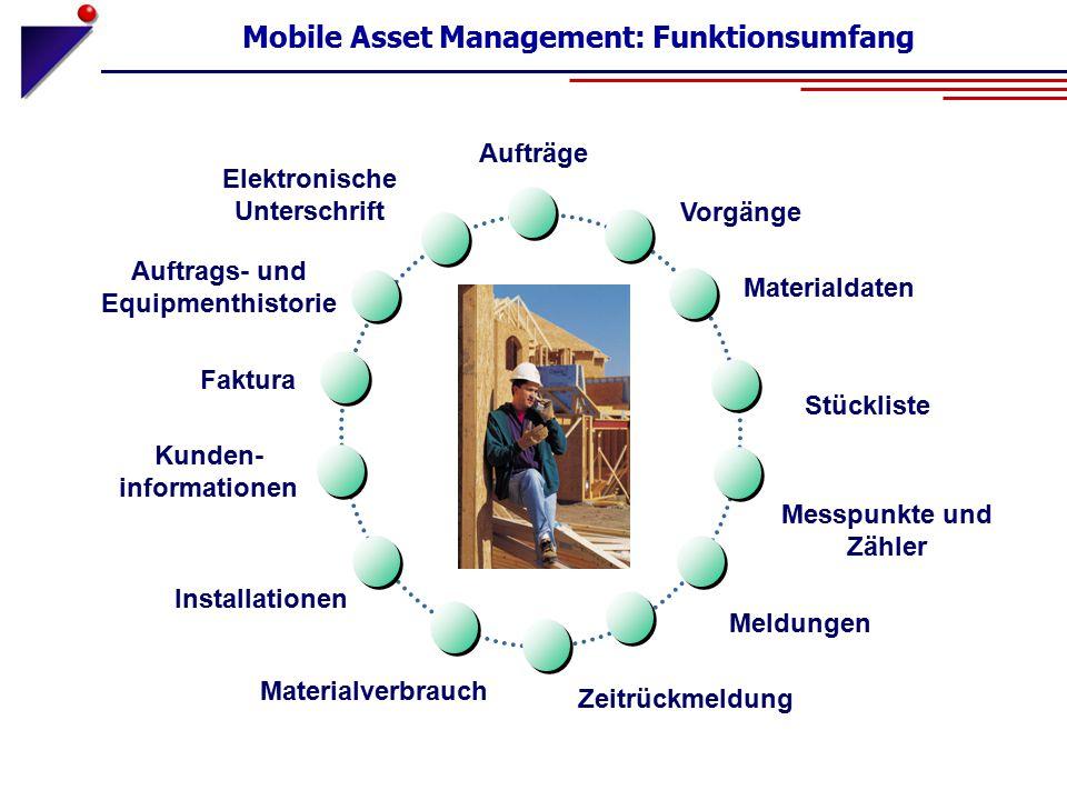 Mobile Asset Management: Funktionsumfang
