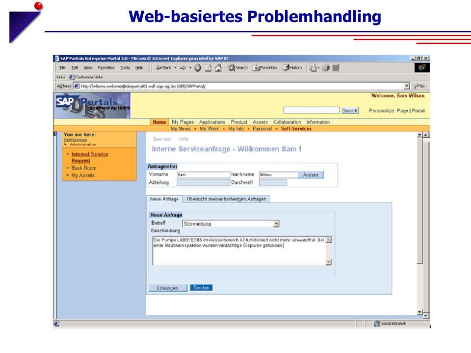 Web-basiertes Problemhandling