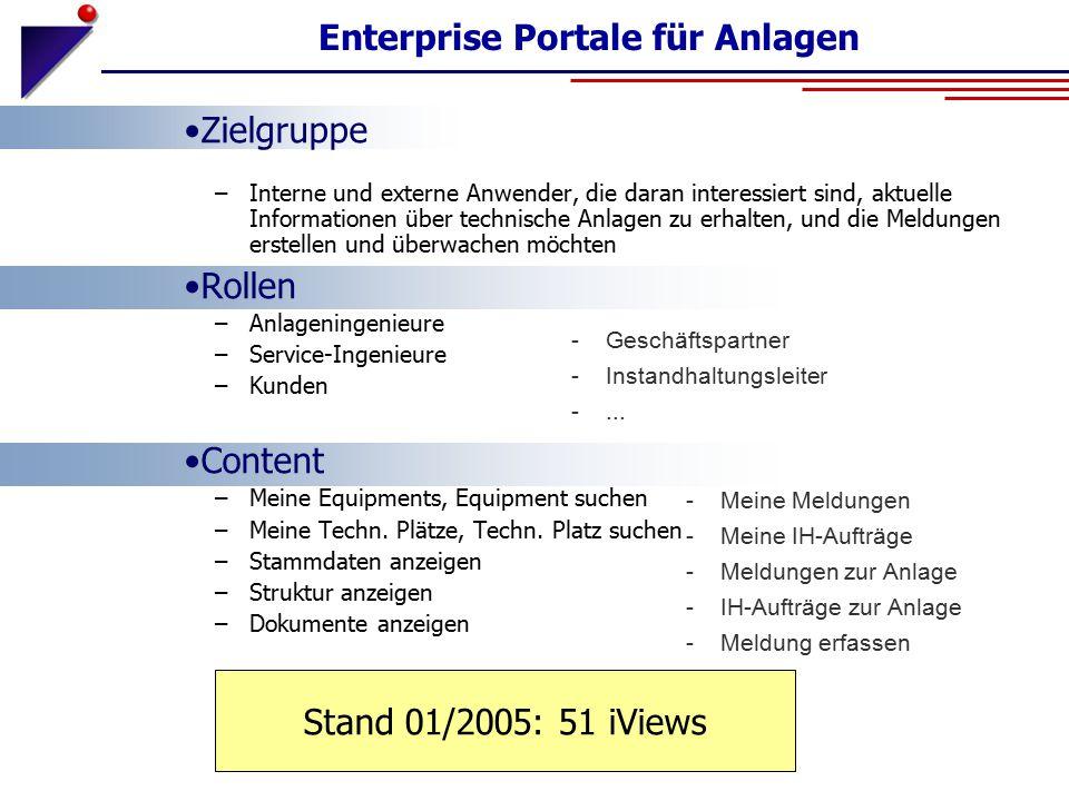 Enterprise Portale für Anlagen