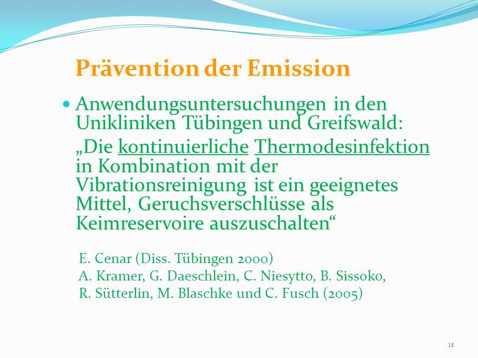 Prävention der Emission