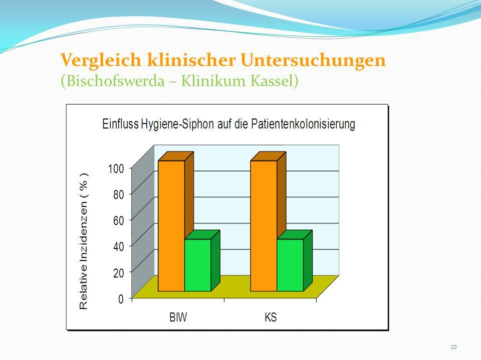 Vergleich klinischer Untersuchungen (Bischofswerda – Klinikum Kassel)