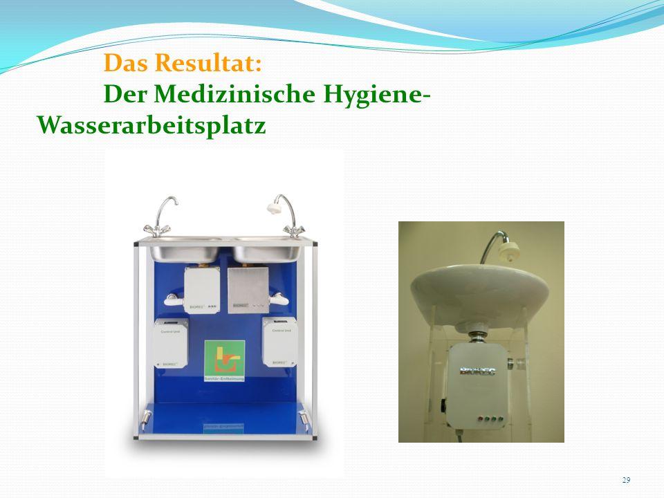 Das Resultat: Der Medizinische Hygiene-Wasserarbeitsplatz