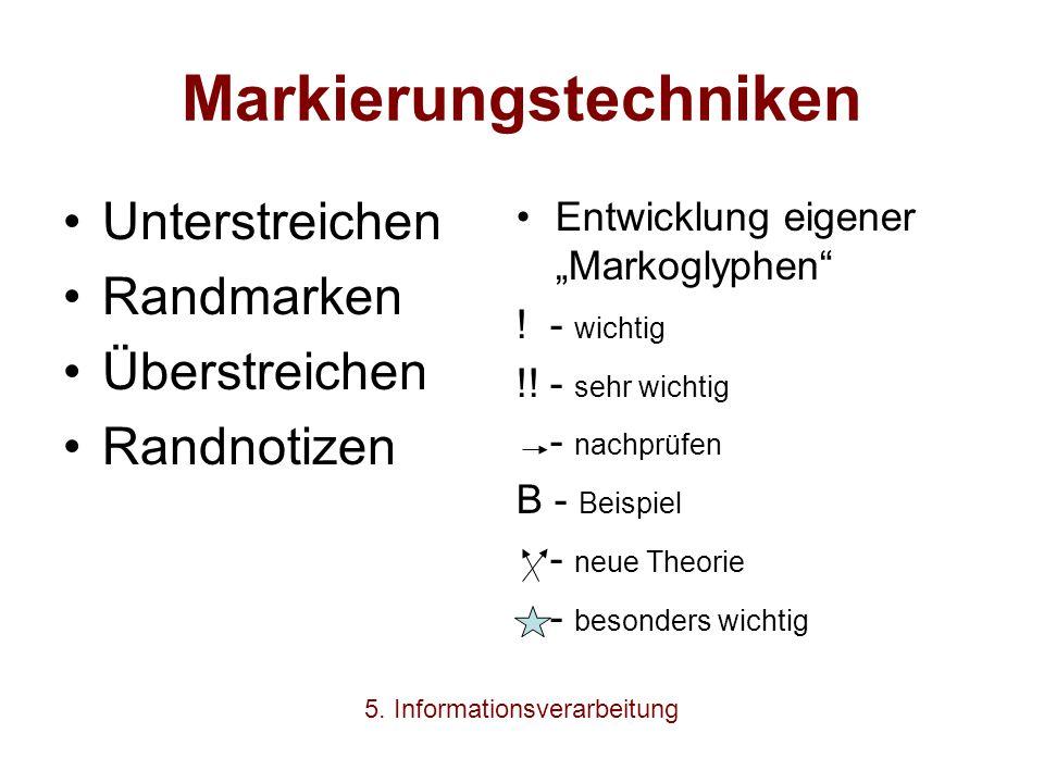 Markierungstechniken
