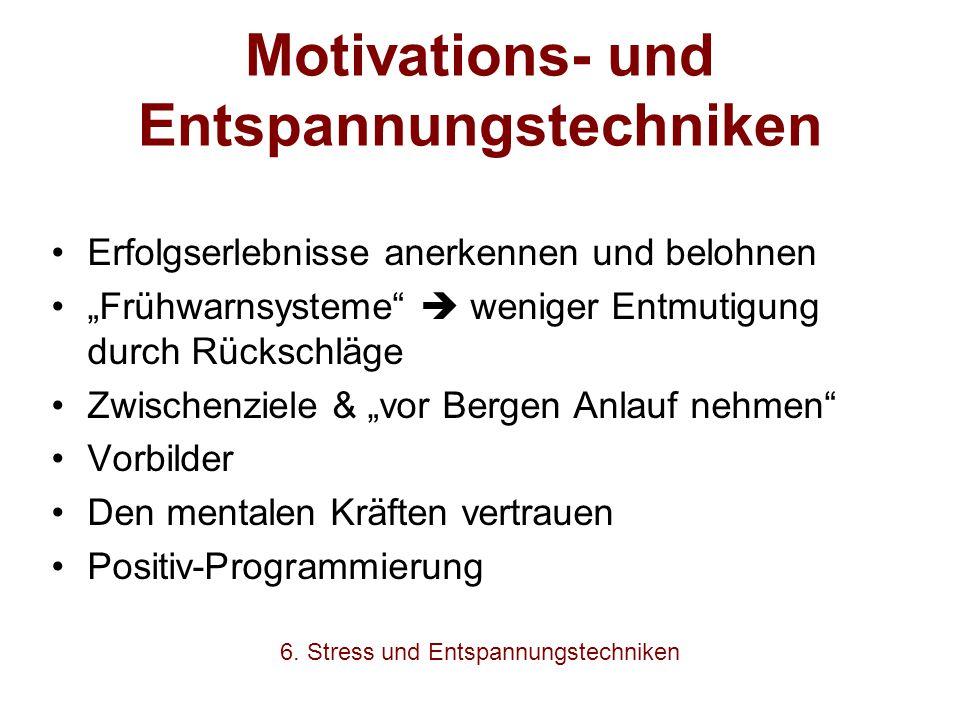 Motivations- und Entspannungstechniken