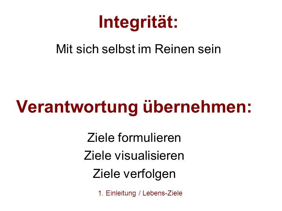 Integrität: Mit sich selbst im Reinen sein