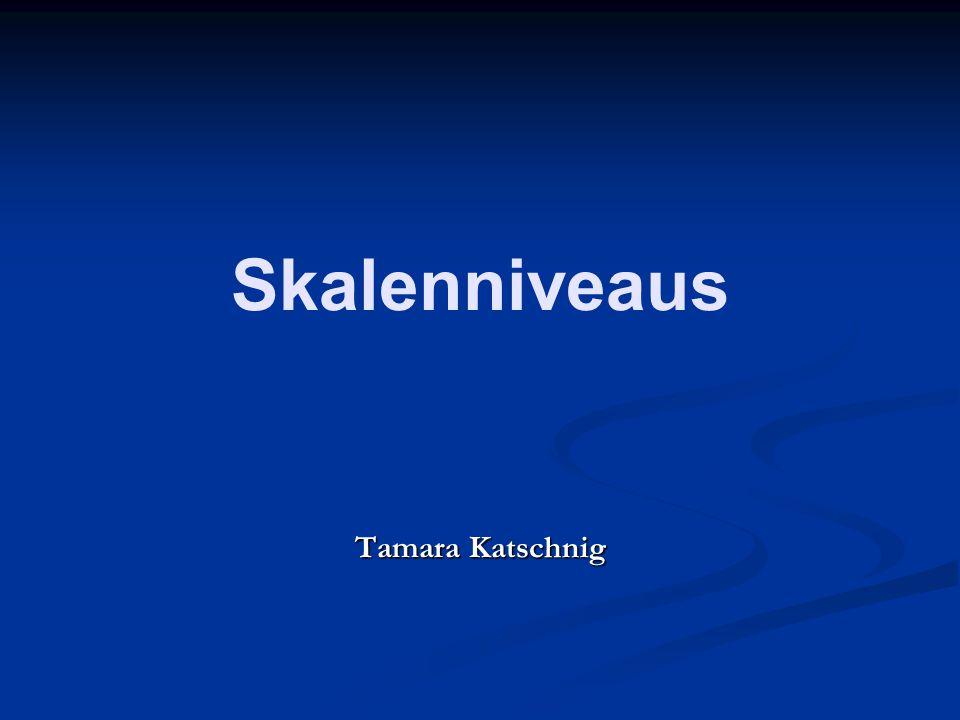 Skalenniveaus Tamara Katschnig